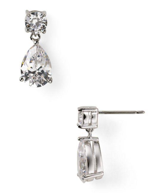 Nadri - Metallic Cubic Zirconia Teardrop Earrings - Lyst