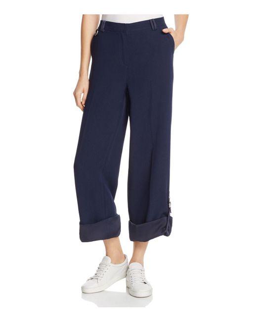 Kenneth Cole | Blue Wide-leg Cargo Pants | Lyst