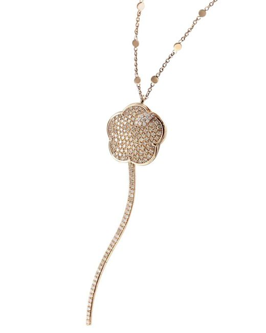 Pasquale Bruni - Metallic 18k Rose Gold Joli White & Champagne Diamond Pendant Necklace - Lyst