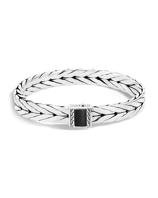 John Hardy | Metallic Sterling Silver Modern Chain Bracelet With Black Onyx for Men | Lyst