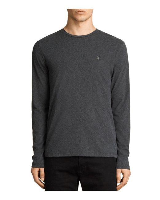 AllSaints - Gray Brace Long Sleeve Tee for Men - Lyst