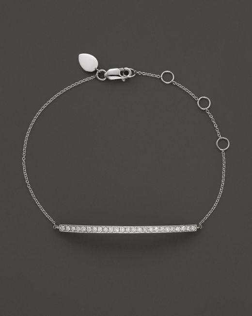 Meira T - Multicolor 14k White Gold Bar Bracelet - Lyst