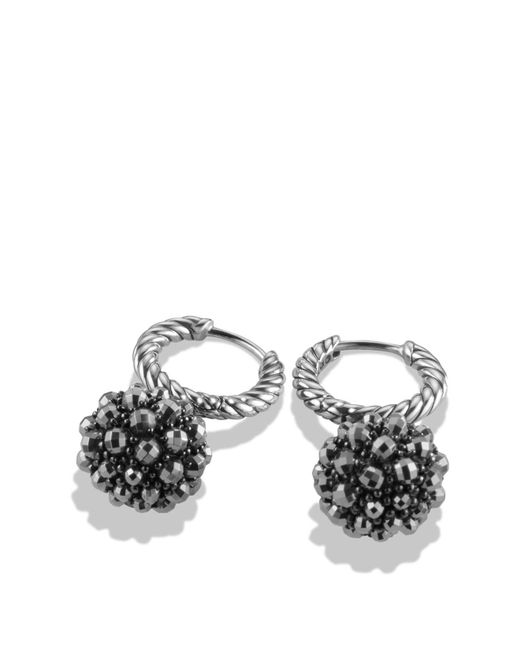 David Yurman | Gray Osetra Hoop Earrings With Hematine | Lyst
