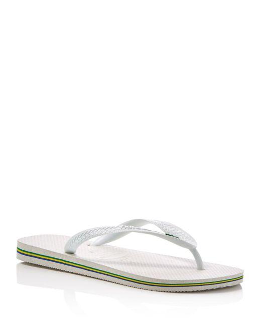 Havaianas - White Men's Brasil Sandals for Men - Lyst