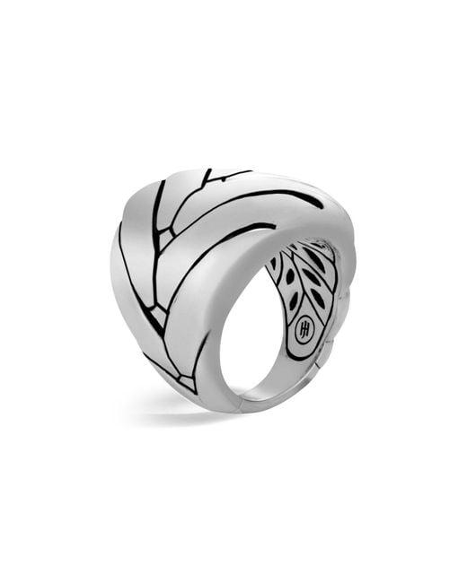 John Hardy | Metallic Sterling Silver Modern Chain Large Ring | Lyst