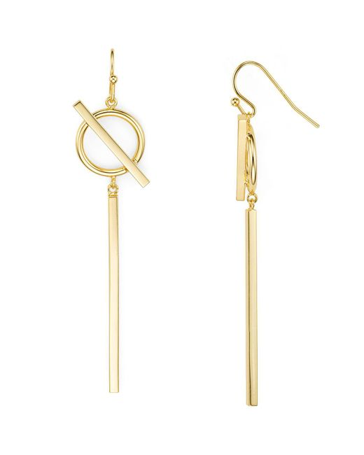 Argento Vivo | Metallic Circle And Bar Drop Earrings | Lyst