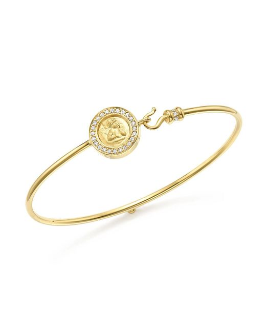 Temple St. Clair - Metallic 18k Yellow Gold Mini Angel Pavé Diamond Bracelet - Lyst