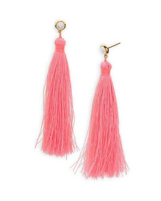 Gorjana | Pink Tulum Gem Tassel Earrings | Lyst