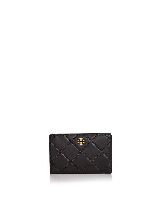 Tory Burch | Black Monroe Slim Medium Leather Wallet | Lyst