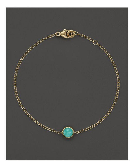 Ippolita | Metallic 18k Gold Mini-lollipop Bracelet In Turquoise | Lyst