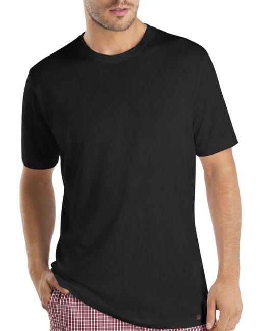 Hanro - Black Night & Day Short Sleeve Shirt for Men - Lyst
