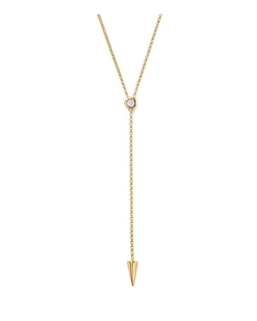 KC Designs | Metallic Diamond Spike Y Necklace In 14k Yellow Gold, 16"