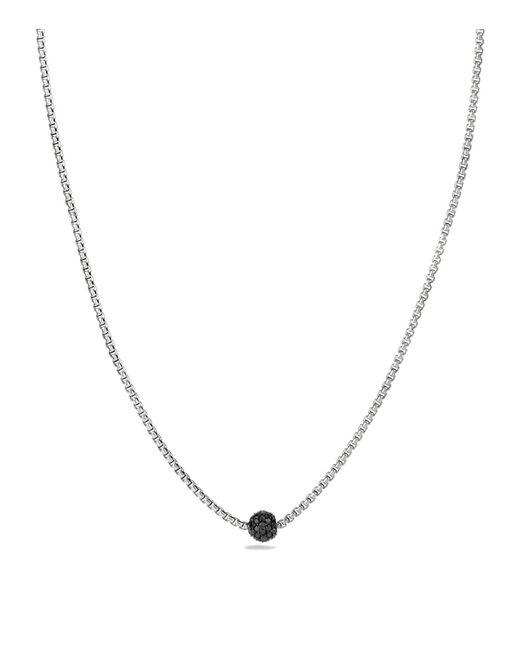 David Yurman | Black Petite Pavé Necklace With Diamonds | Lyst