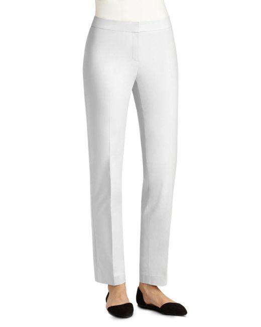Lafayette 148 New York - White Crosby Straight Leg Pants - Lyst