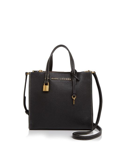 Marc Jacobs | Black The Mini Grind Leather Crossbody | Lyst