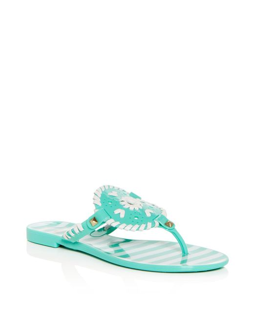 Jack Rogers - Multicolor Women's Georgica Striped Jelly Thong Sandals - Lyst