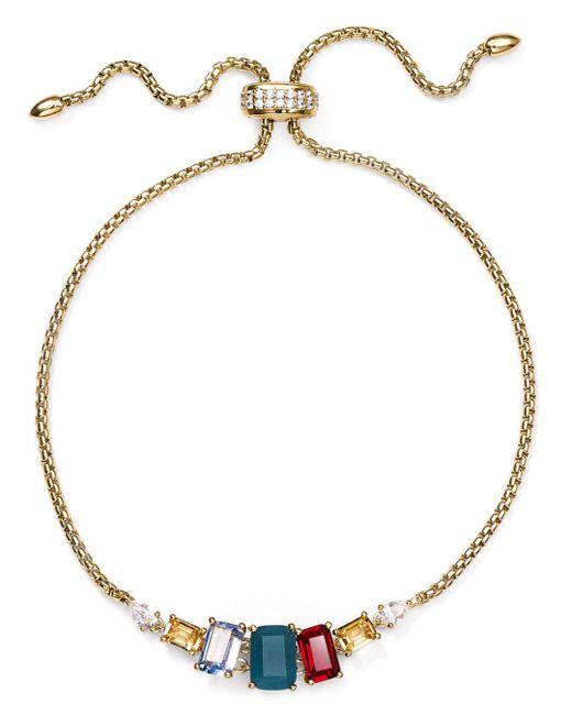 Nadri - Verdana Multicolor Stone Slider Bracelet - Lyst
