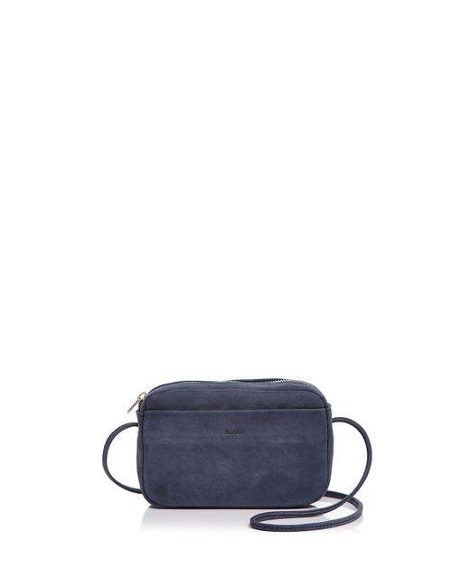 Baggu | Blue Mini Nubuck Leather Crossbody | Lyst