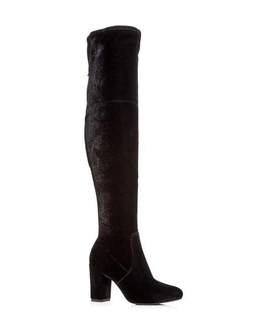 Kenneth Cole | Black Women's Abigail Velvet Over-the-knee Boots | Lyst