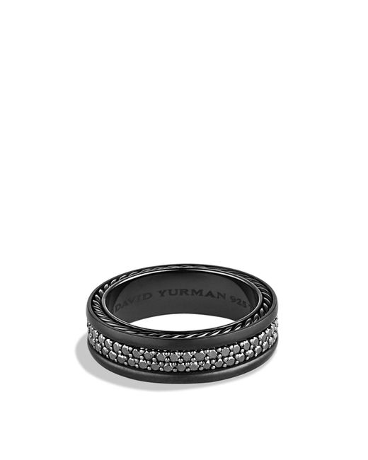 David Yurman   Streamline Two-row Band Ring With Black Diamonds   Lyst