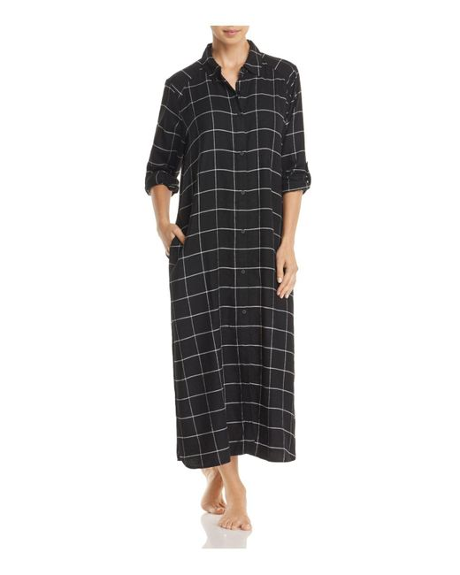 DKNY | Black Long Sleepshirt | Lyst