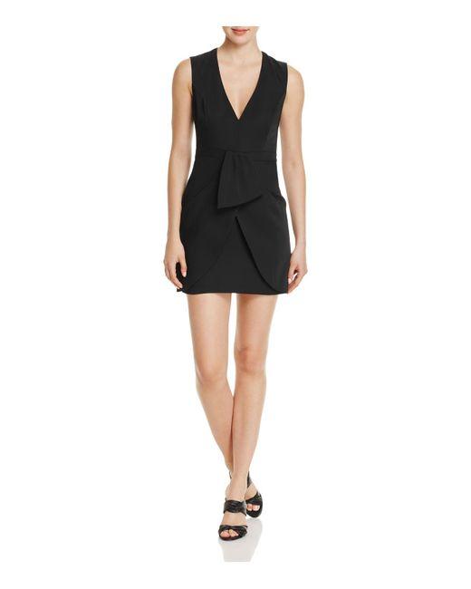 BCBGMAXAZRIA   Black Ruffle Detail Dress   Lyst