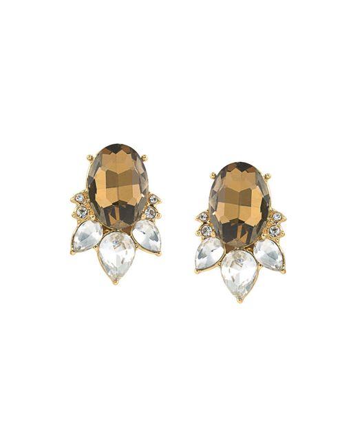 Carolee   Metallic Stone Stud Earrings   Lyst