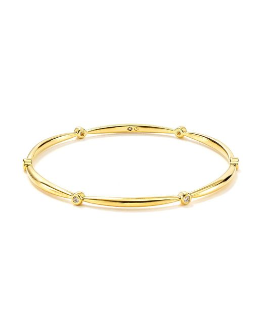 Nadri | Metallic Tapered Bezel Set Bangle | Lyst
