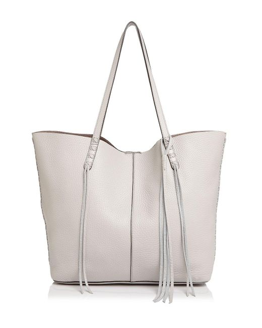 Rebecca Minkoff | Multicolor Unlined Whipstitch Medium Pebbled Leather Tote | Lyst