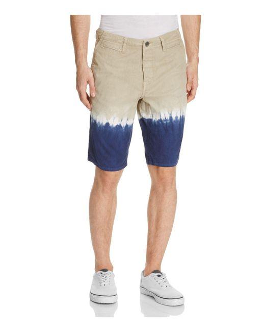 Original Paperbacks | Blue Napa Dip-dye Shorts for Men | Lyst