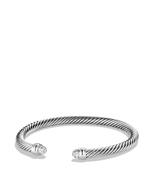David Yurman | Metallic Cable Classics Bracelet With Diamonds | Lyst