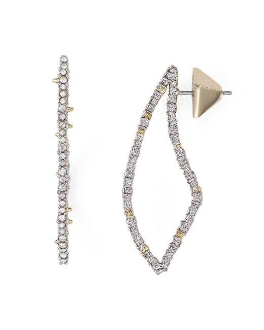 Alexis Bittar | Metallic Swarovski Crystal-encrusted Abstract Thorn Drop Earrings | Lyst