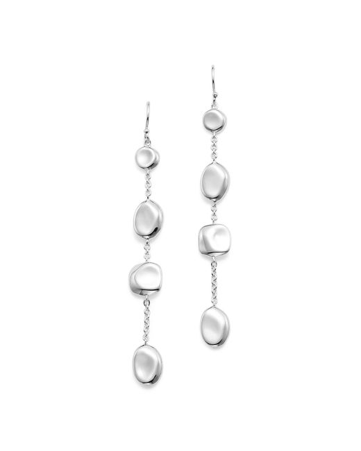 Ippolita | Metallic Sterling Silver Glamazon® Pebble And Chain Linear Earrings | Lyst