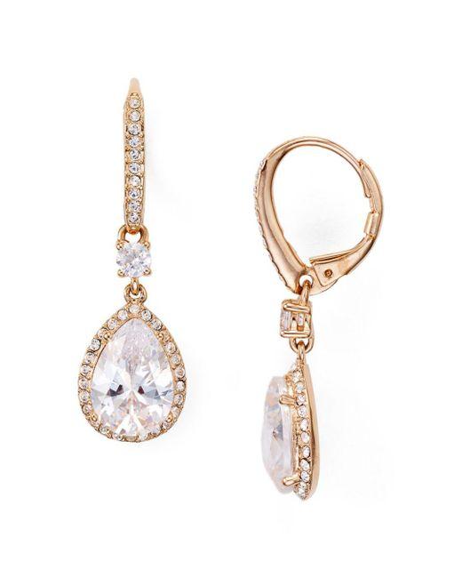Nadri - Metallic Miss Pear Drop Earrings - Lyst