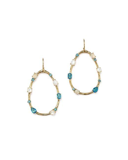Ippolita   Metallic 18k Yellow Gold Rock Candy® Mixed Doublet Open Drop Earrings In Raindrop   Lyst