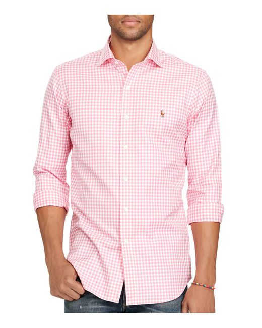 Polo Ralph Lauren   Pink Gingham Oxford Estate Classic Fit Button-down Shirt for Men   Lyst
