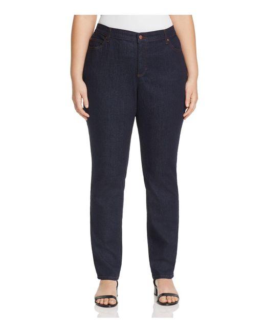 Eileen Fisher | Blue System Skinny Jeans In Indigo | Lyst