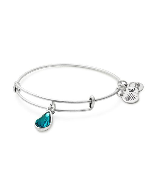 ALEX AND ANI | Multicolor Swarovski Crystal Birthstone Expandable Wire Bangle | Lyst