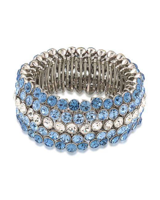 Carolee | Blue Stretch Bracelet | Lyst