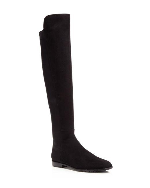 Stuart Weitzman | Black Corley Over The Knee Boots | Lyst