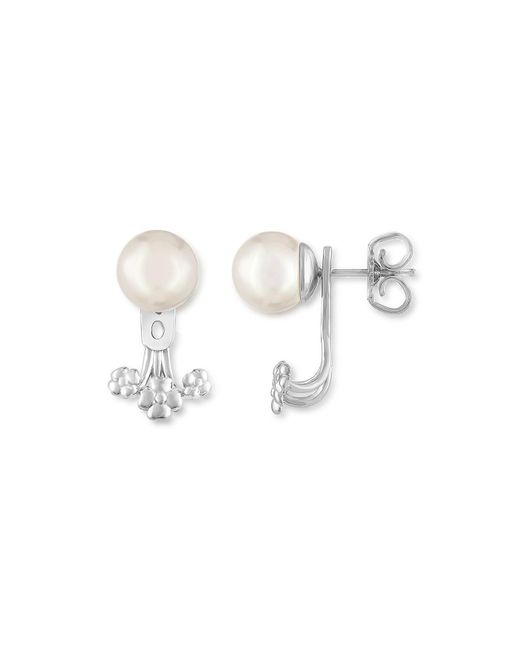 Majorica | White Simulated Pearl Ear Jackets | Lyst