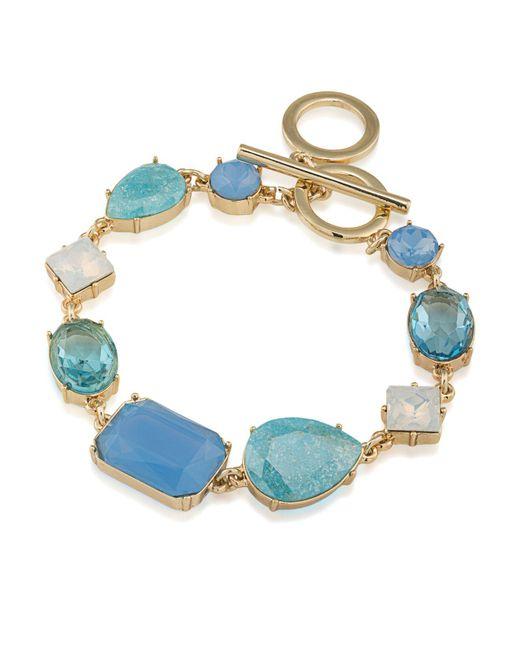 Carolee | Blue Stone Toggle Bracelet | Lyst