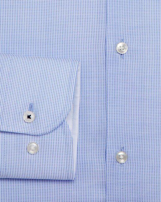 52e1c570ef3 ... BOSS - Blue Micro-contrast Slim Fit Dress Shirt for Men - Lyst