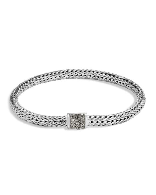 John Hardy - Metallic Sterling Silver Classic Chain Extra Small Bracelet With Mixed Grey Sapphire - Lyst