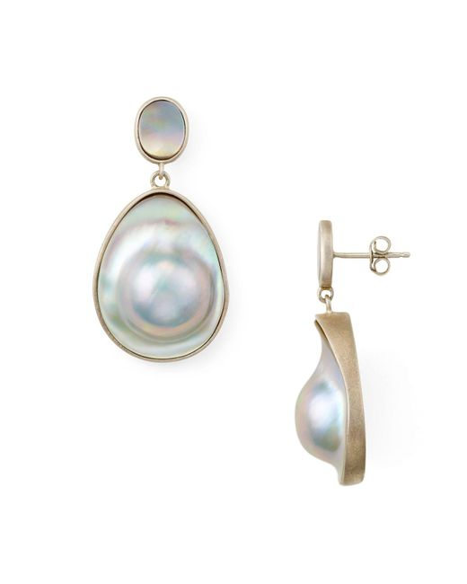 Chan Luu - Gray Freshwater Pearl Drop Earrings - Lyst
