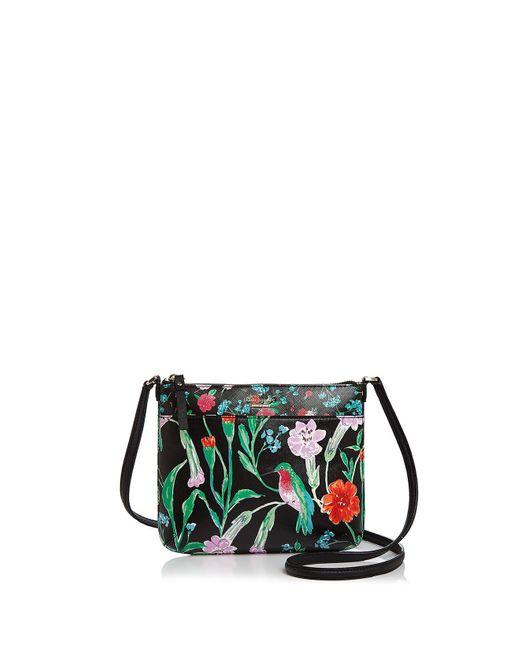 Kate Spade | Black Cedar Street Tenley Floral Leather Crossbody | Lyst