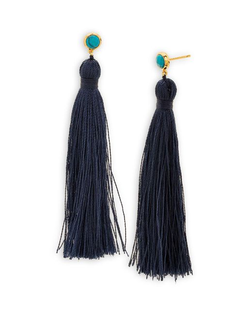 Gorjana | Blue Tulum Gem Tassel Earrings | Lyst
