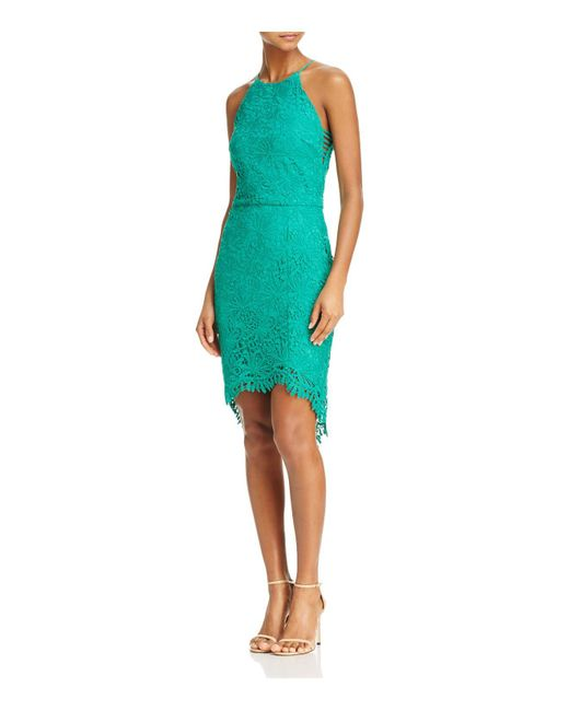 Adelyn Rae | Green Louise Lace Fishtail Dress | Lyst