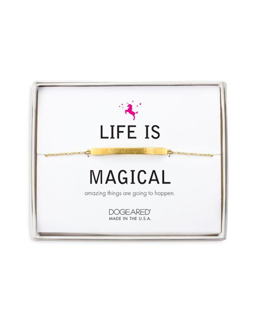 Dogeared | Metallic Life Is Magical Bracelet | Lyst