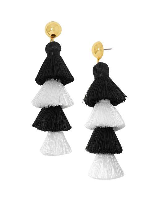 BaubleBar | Black Luisa Tassel Drop Earrings | Lyst